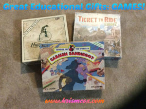 Great Educational Gifts: GAMES!